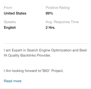 do fiverr seo gigs work