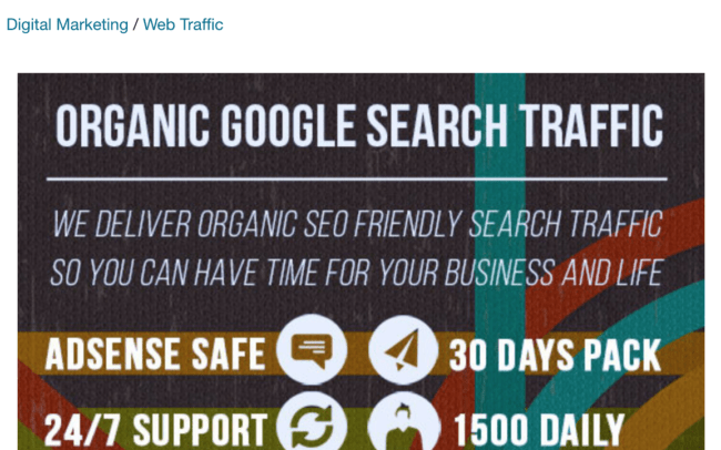 buying search traffic doesn't help rank