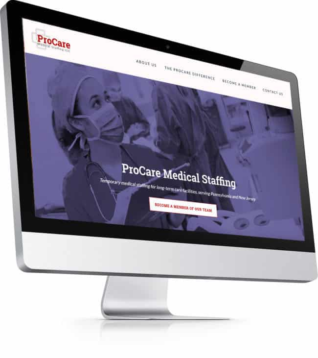 example of web design for health care in new jersey