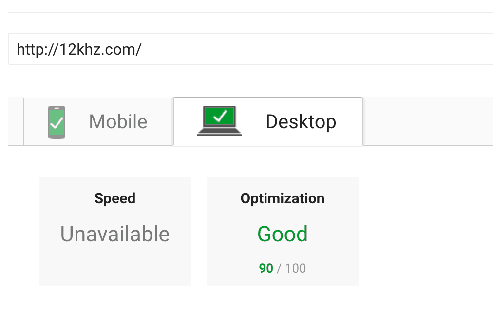 90 google page speed