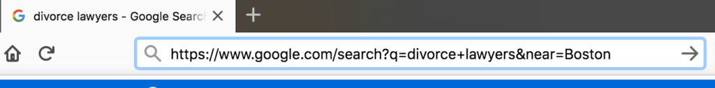 search url bar for other city
