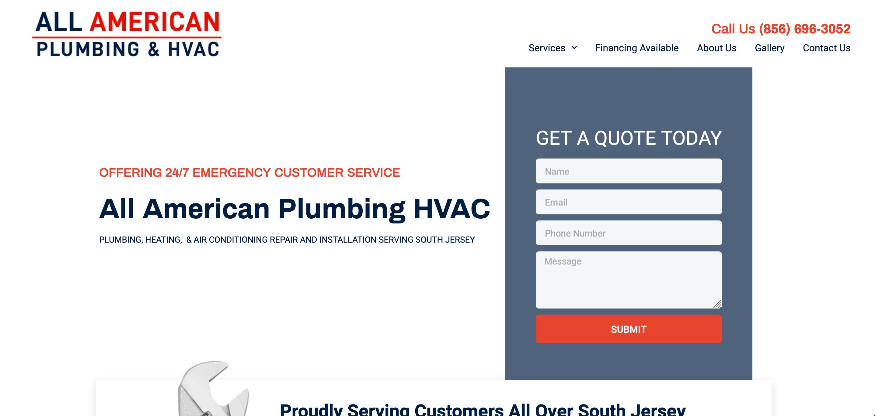 hvac marketing website