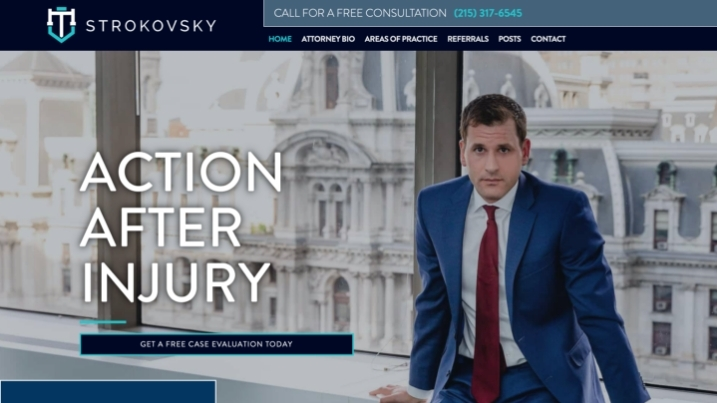 personal injury lawyer web design