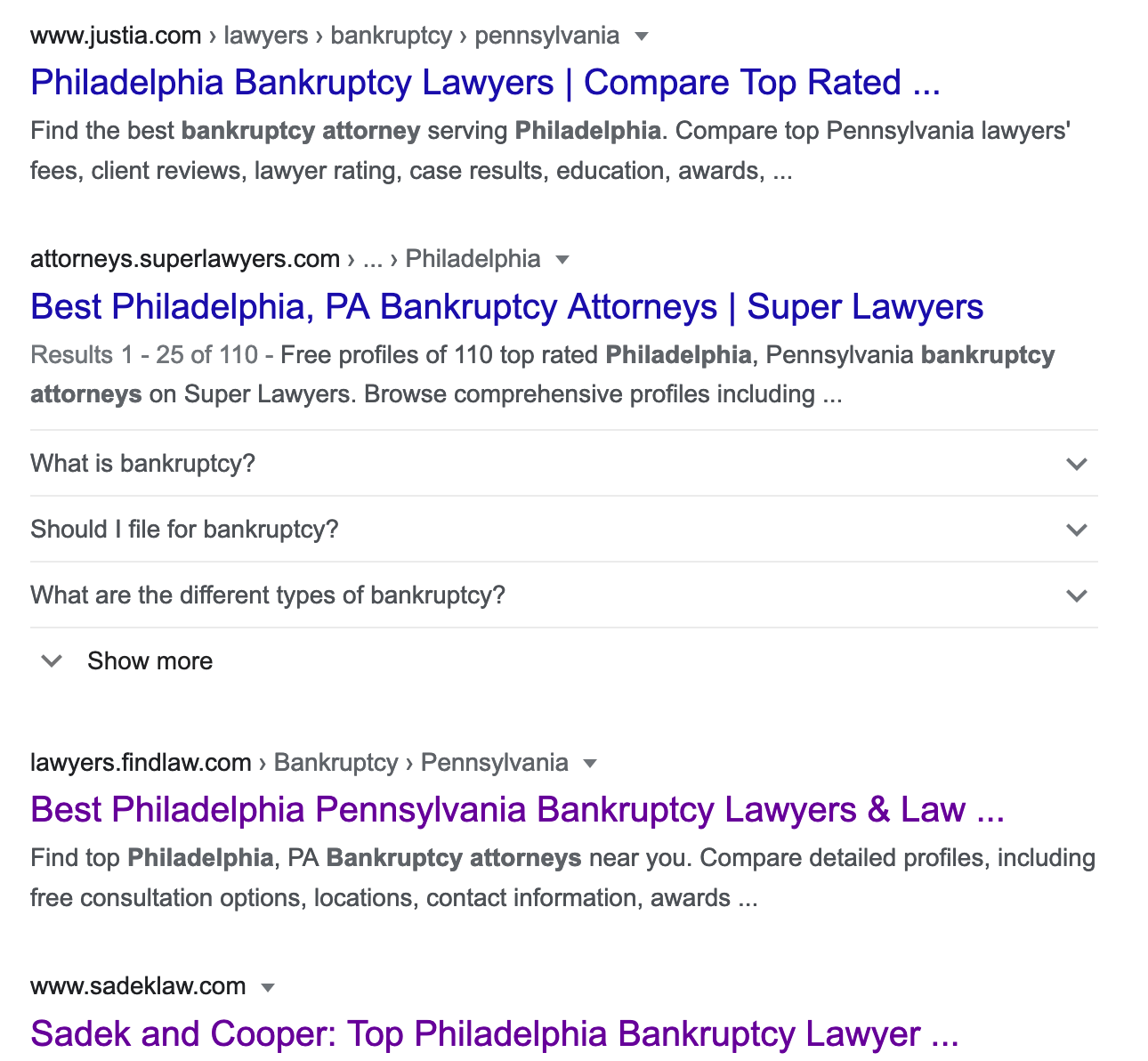 SERP for lawyers