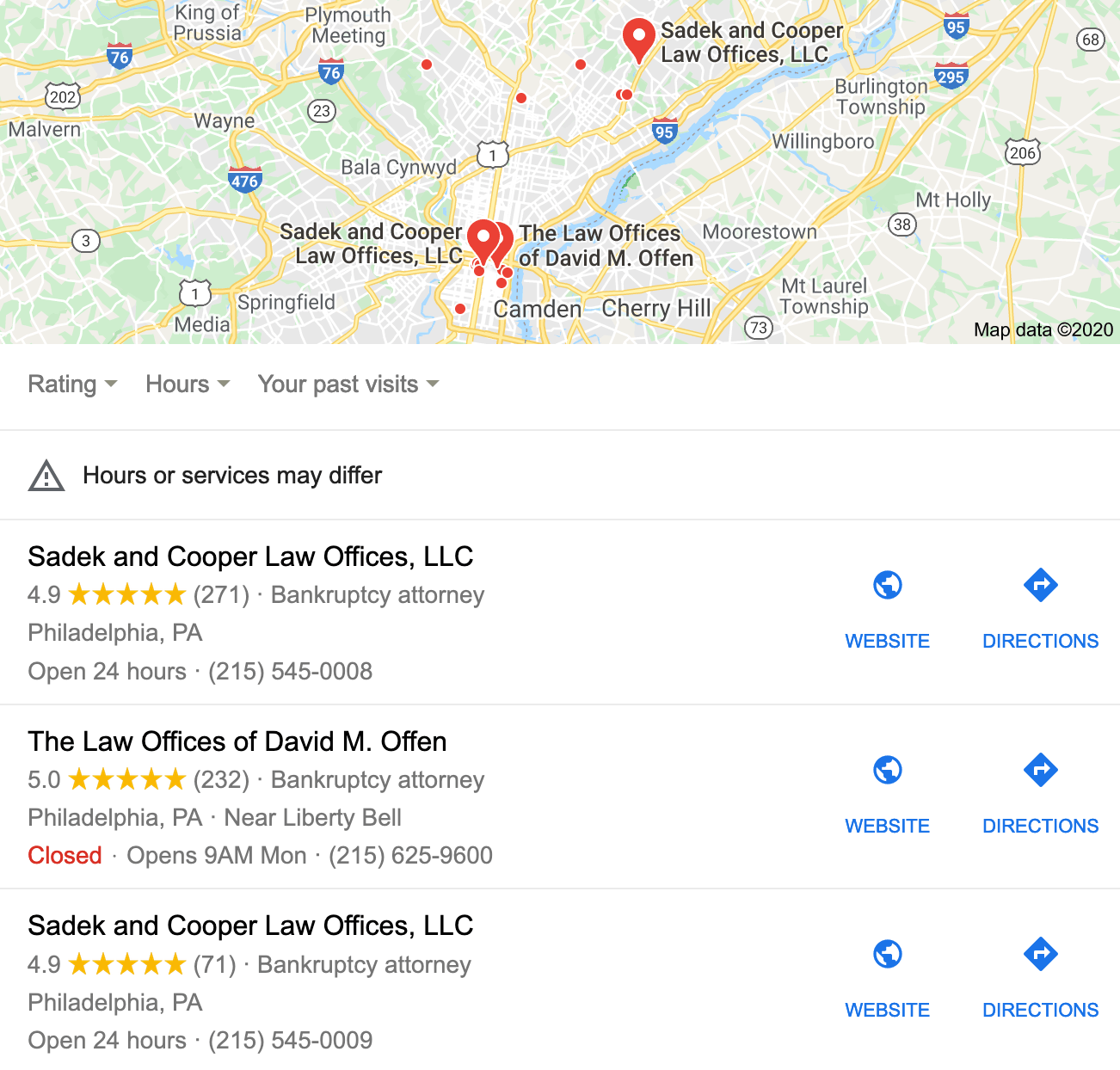 local map results for bankruptcy lawyer seo