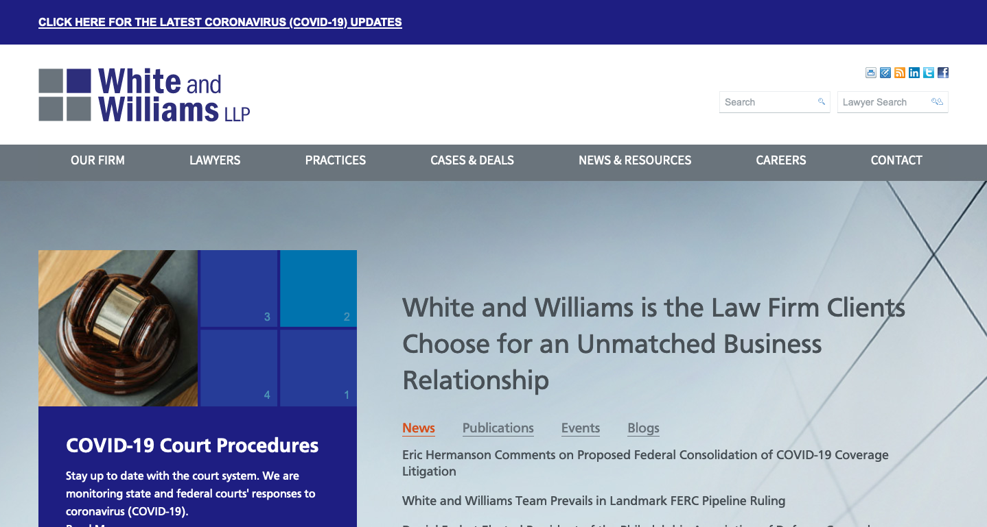 law firm marketing website