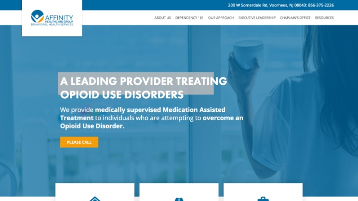 affinity healthcare website website design