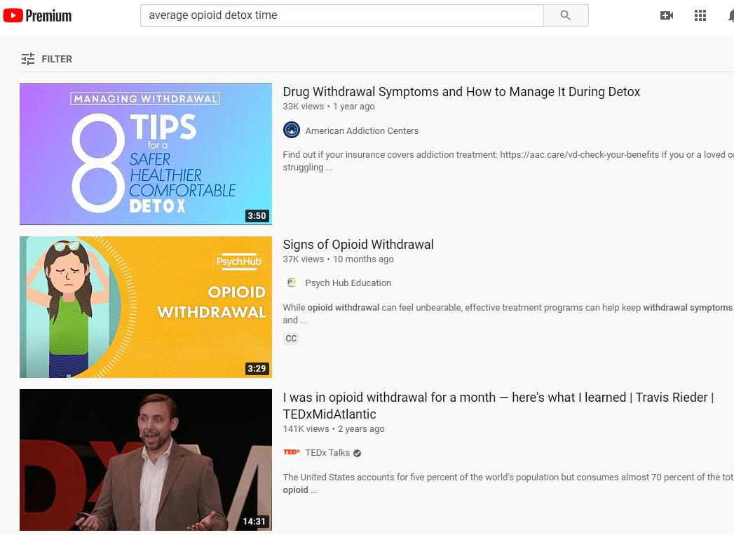 youtube for addiction treatment marketing