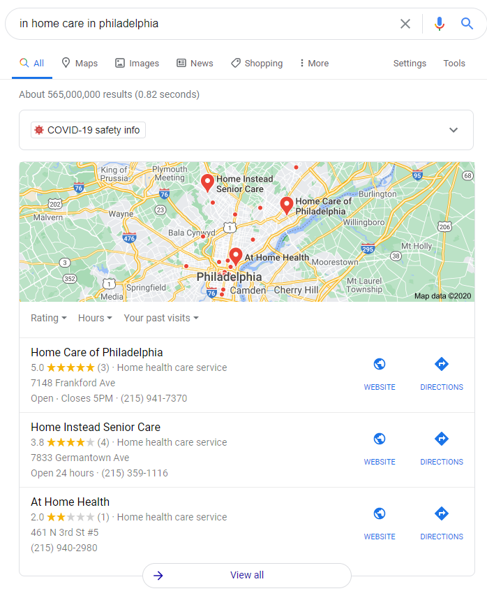 map results for SEO